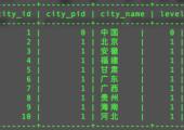 mysql文件:中国省市县三级分类信息导入