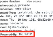 ThinkPHP框架修改X-Powered-By